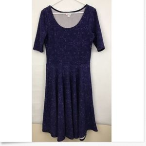 Lularoe XL Purple Stretch Pull On Dress